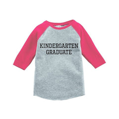 7 ate 9 Apparel Girls Kindergarten Graduate School Raglan Tee