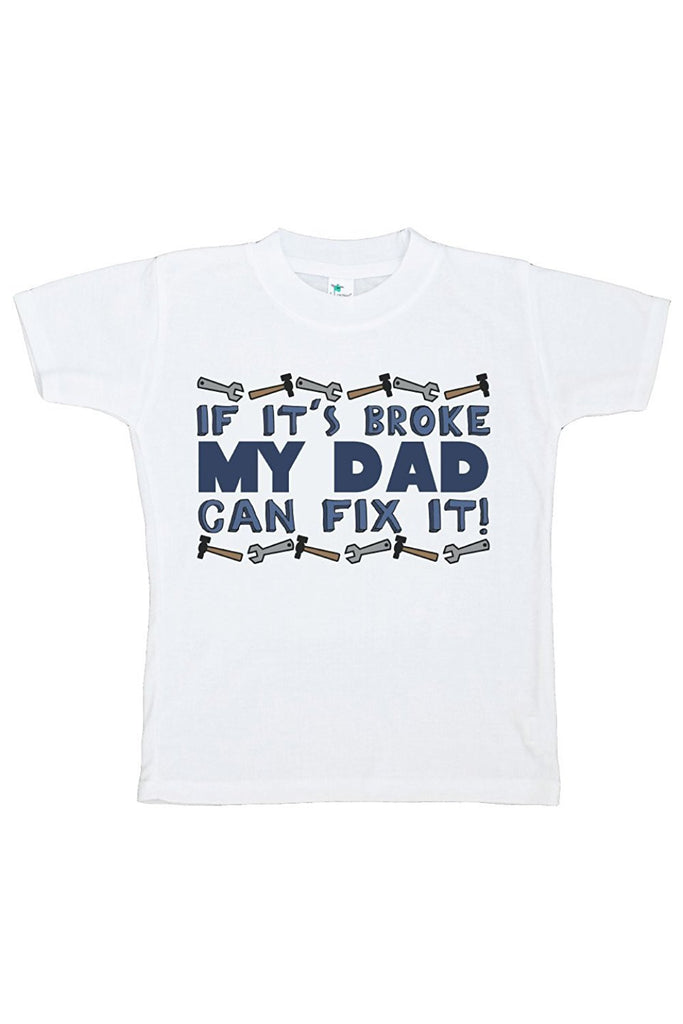 7 ate 9 Apparel Boy's Novelty Dad Can Fix It T-shirt