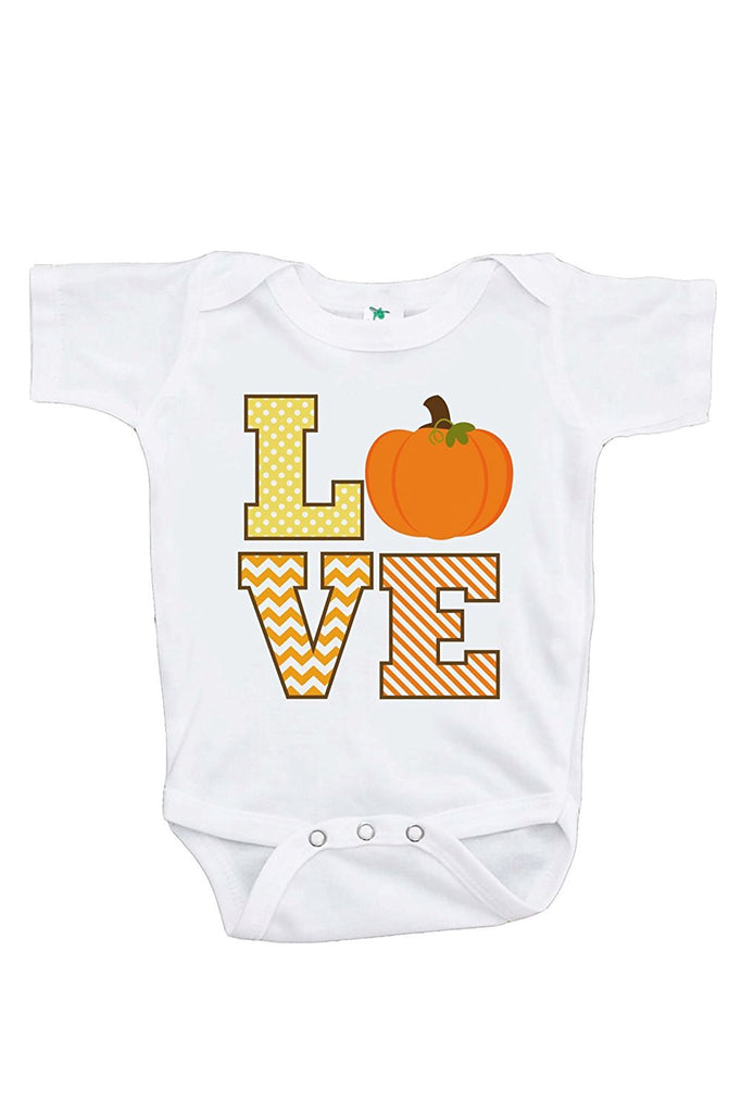 7 ate 9 Apparel Baby's LOVE Fall Thanksgiving Onepiece