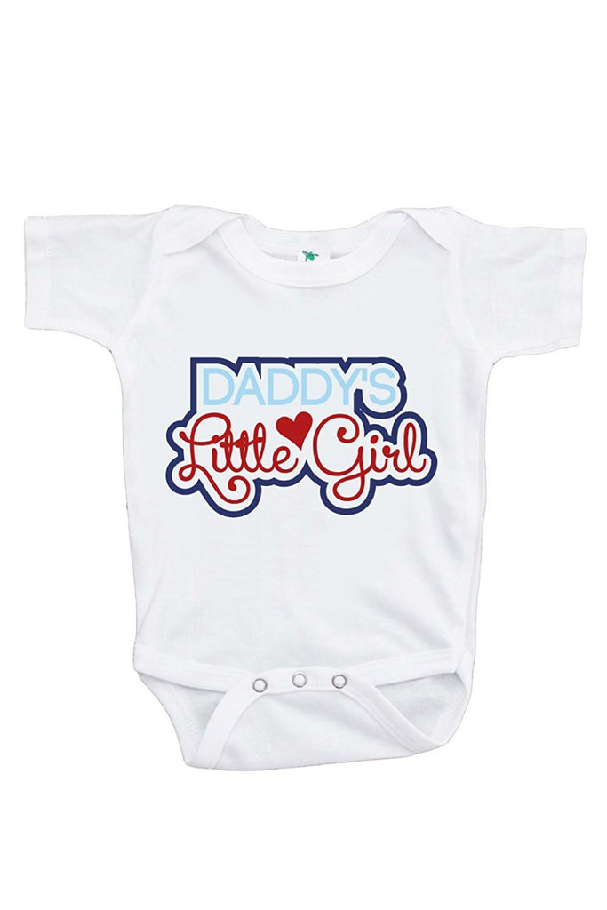 7 ate 9 Apparel Baby Girls' Novelty Father's Day Onepiece