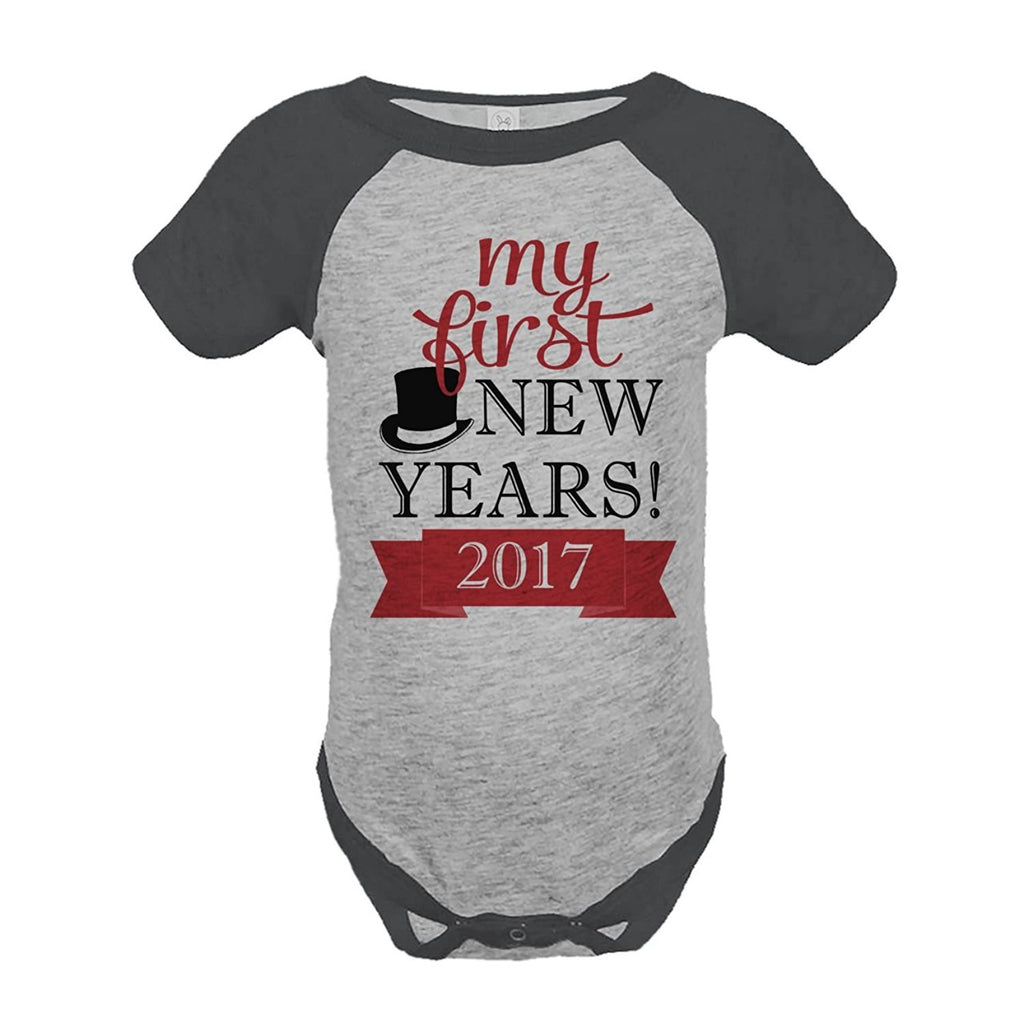 7 ate 9 Apparel Baby's First New Year Onepiece