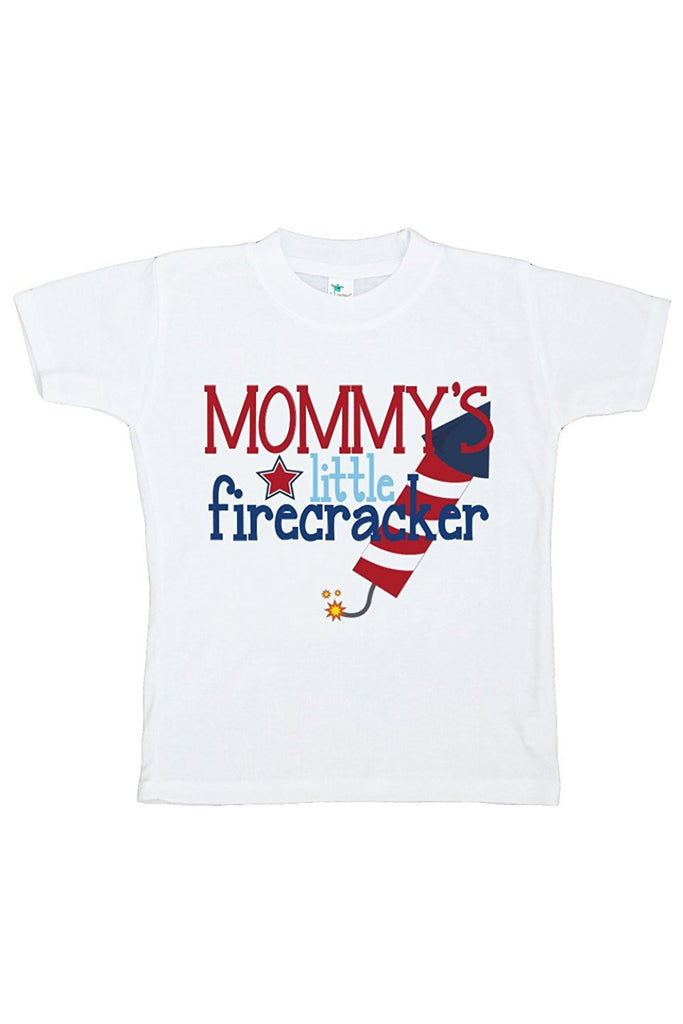 7 ate 9 Apparel Kid's Daddy's Firecracker 4th of July T-shirt