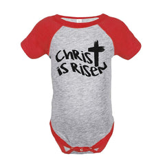 7 ate 9 Apparel Baby's Christ is Risen Religious Easter Onepiece
