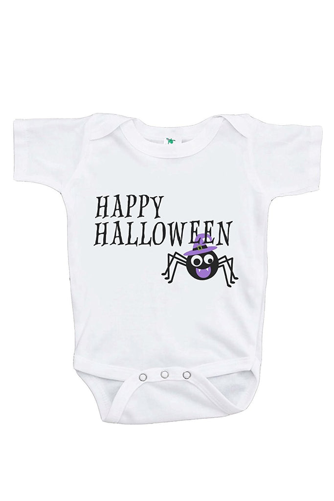 7 ate 9 Apparel Baby's Happy Halloween Onepiece