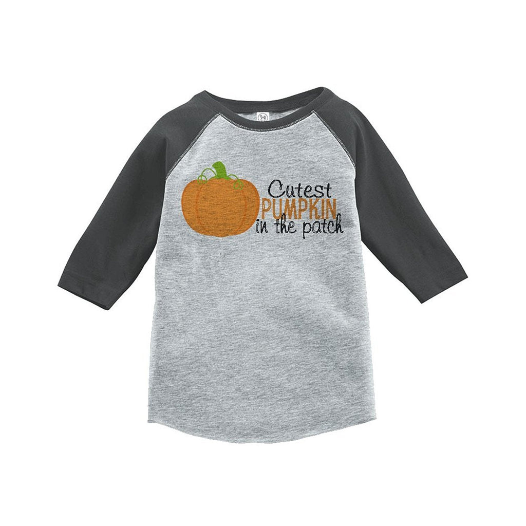 7 ate 9 Apparel Youth Cutest Pumpkin Halloween Shirt
