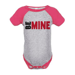 7 ate 9 Apparel Kids Be Mine Happy Valentine's Day Pink Onepiece