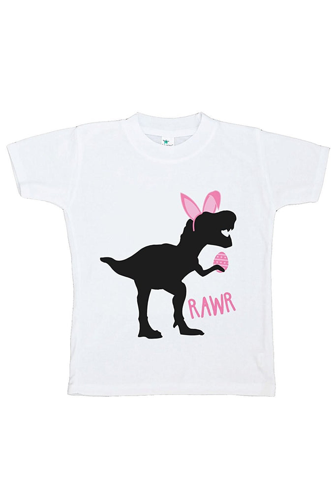 7 ate 9 Apparel Baby Girls Dinosaur Happy Easter T-shirt