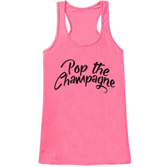 7 ate 9 Apparel Women's Pop the Champagne New Years Tank Top