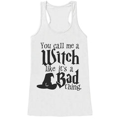 7 ate 9 Apparel Womens Funny Witch Halloween Tank Top