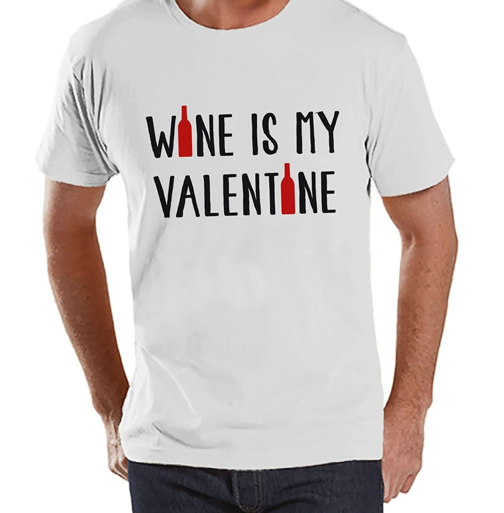 7 ate 9 Apparel Men's Wine Anti Valentine's Day T-shirt