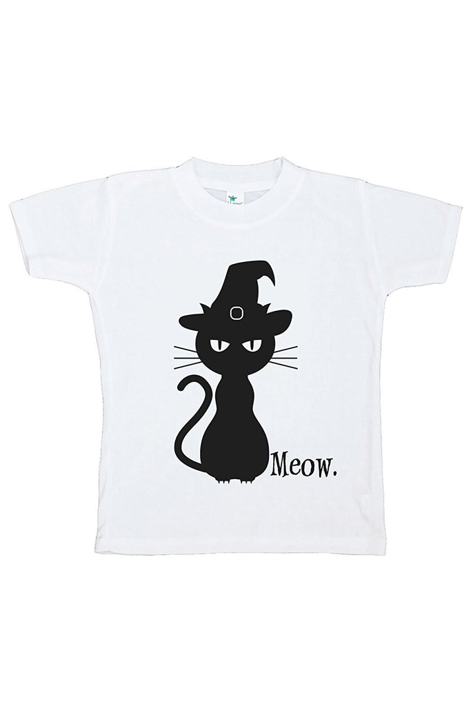 7 ate 9 Apparel Kids Black Cat Halloween Tshirt