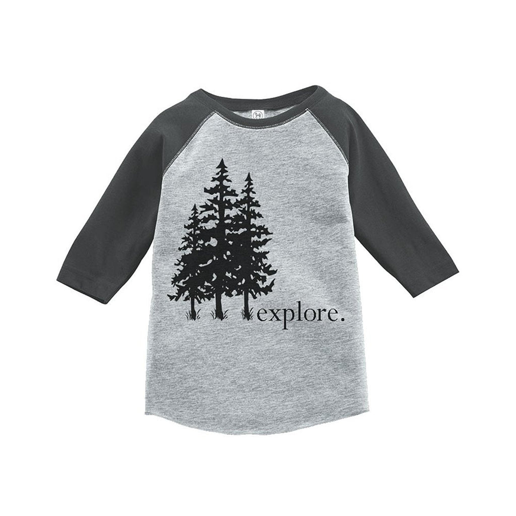 7 ate 9 Apparel Unisex Explore Outdoors Raglan Tee