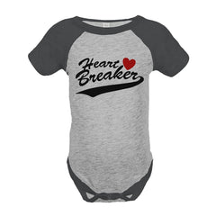 7 ate 9 Apparel Kids Heart Breaker Happy Valentine's Day Grey Onepiece