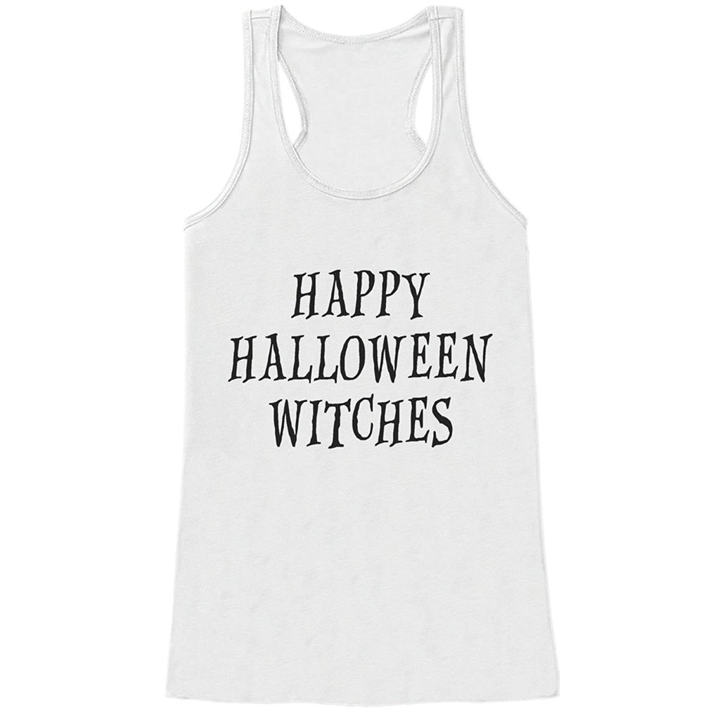 7 ate 9 Apparel Womens Happy Halloween Witches Tank Top