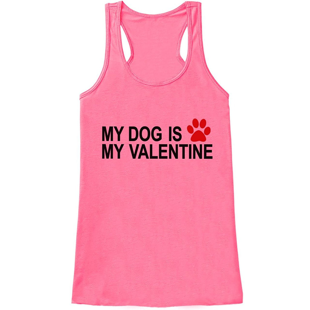 7 ate 9 Apparel Womens Dog Anti Valentine's Day Tank Top