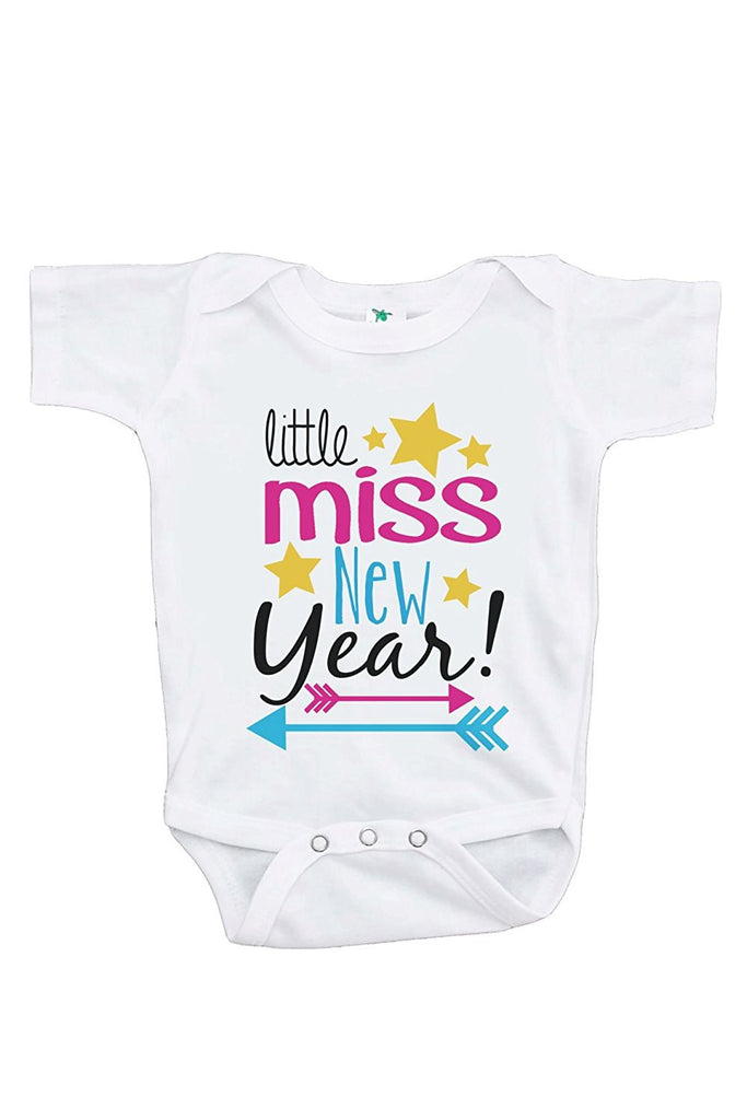 7 ate 9 Apparel Baby's Little Miss New Year Onepiece