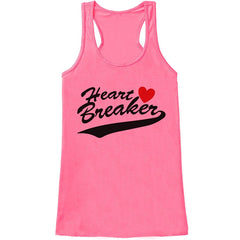 7 ate 9 Apparel Womens Heart Breaker Valentine's Day Tank Top