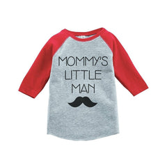 7 ate 9 Apparel Boy's Mustache Little Man Vintage Baseball Tee