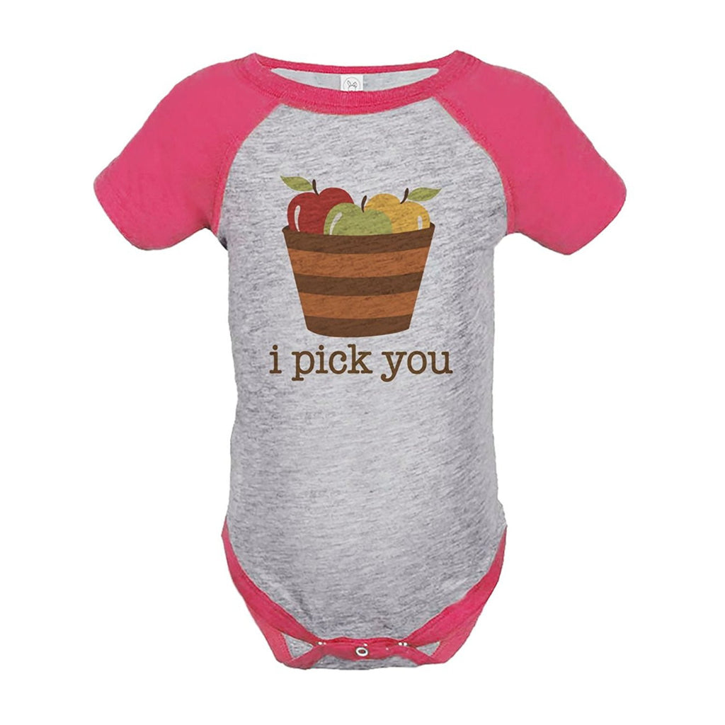 7 ate 9 Apparel Baby's I Pick You Thanksgiving Onepiece