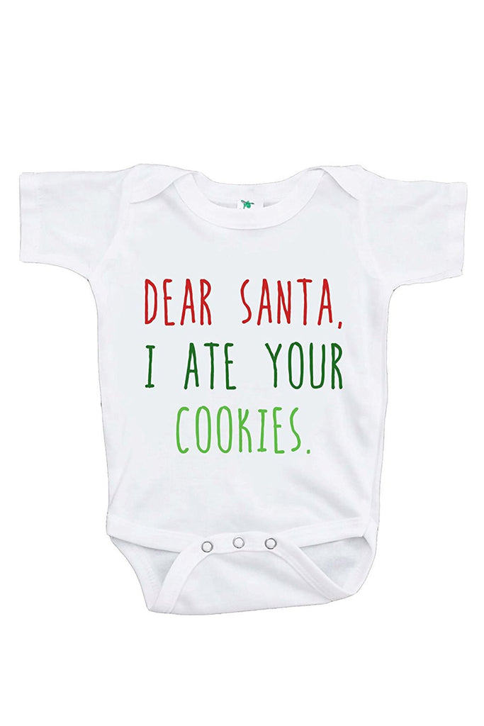 7 ate 9 Apparel Baby's Funny Christmas Onepiece