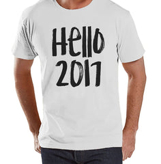 7 ate 9 Apparel Men's Hello 2017 New Years T-shirt