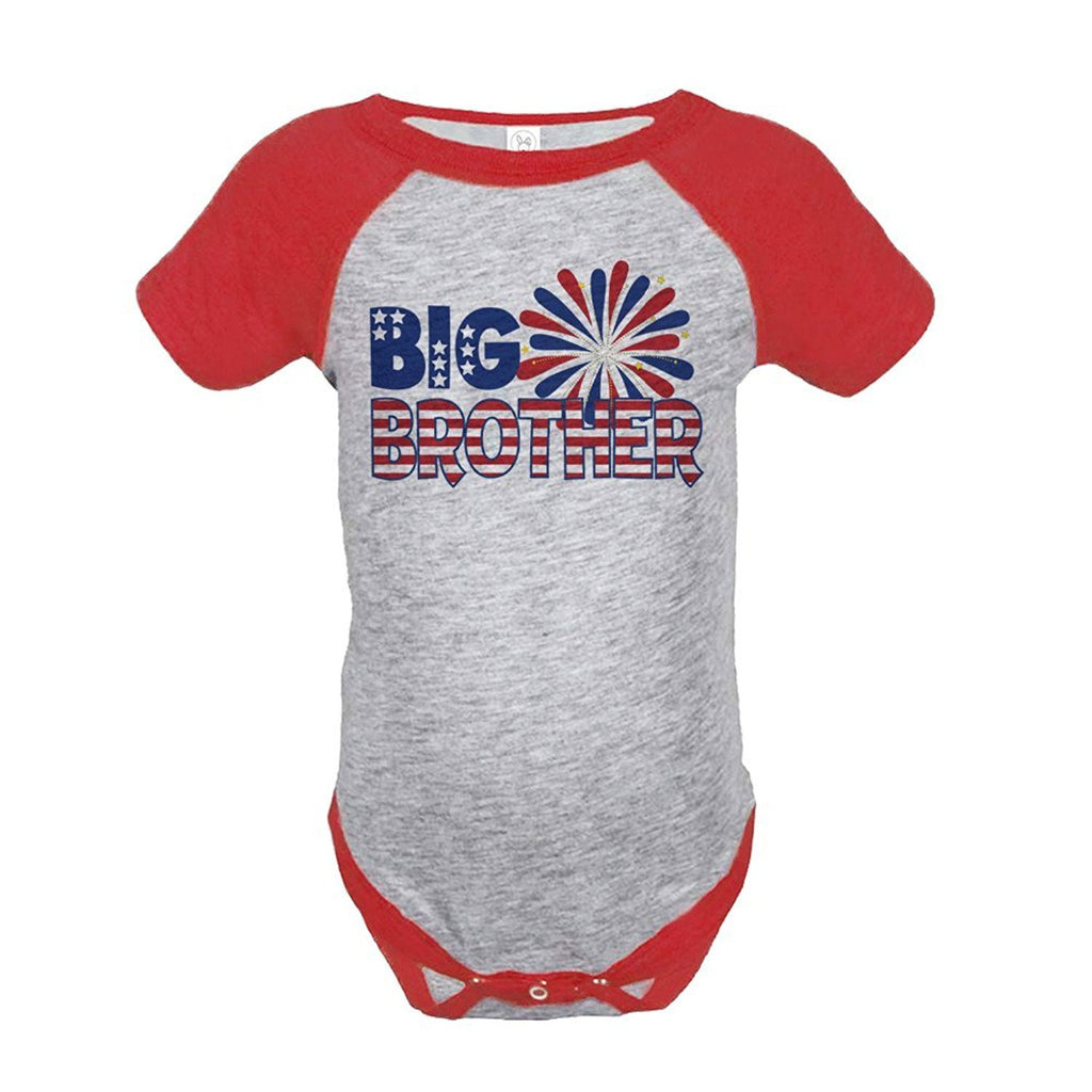 7 ate 9 Apparel Big Brother 4th of July Raglan Onepiece
