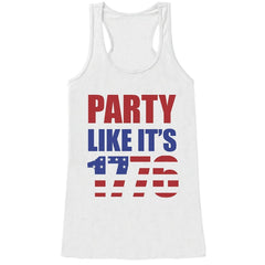 7 ate 9 Apparel Ladie's Party Like It's 1776 4th of July Tank Top