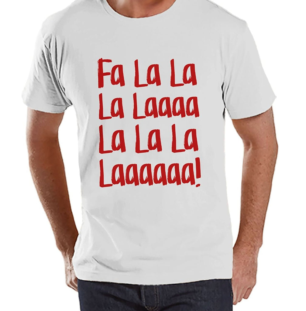 7 ate 9 Apparel Mens Fa La La Christmas T-shirt