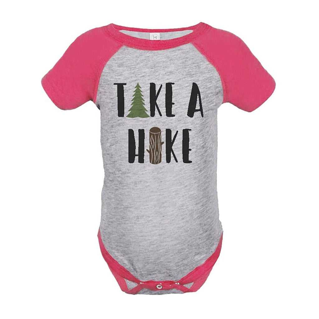 7 ate 9 Apparel Girl's Take a Hike Outdoors Raglan Onepiece