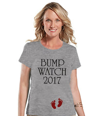 7 ate 9 Apparel Women's Bump Watch New Years T-shirt