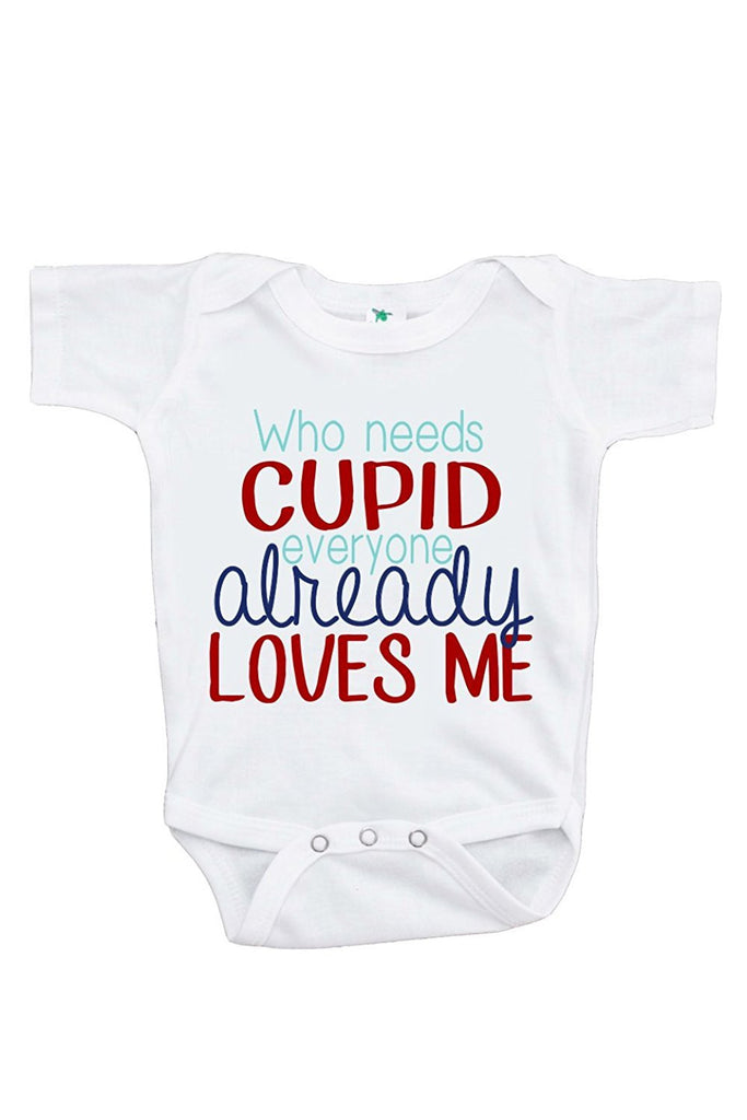 7 ate 9 Apparel Unisex Baby's Who Needs Cupid Boy's Valentine Onepiece
