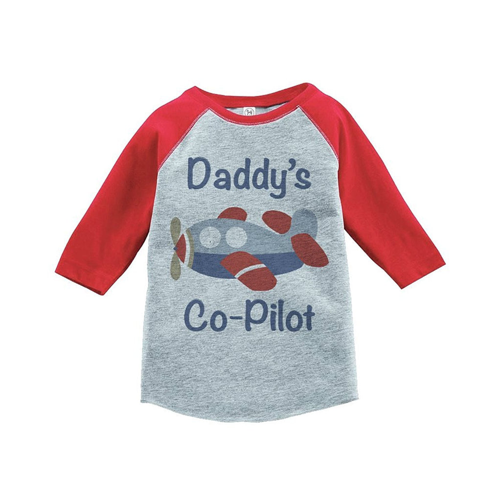 7 ate 9 Apparel Boy's Novelty Airplane Vintage Baseball Tee