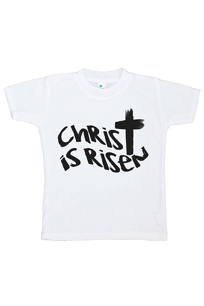 7 ate 9 Apparel Baby's Christ is Risen Religious Easter T-shirt
