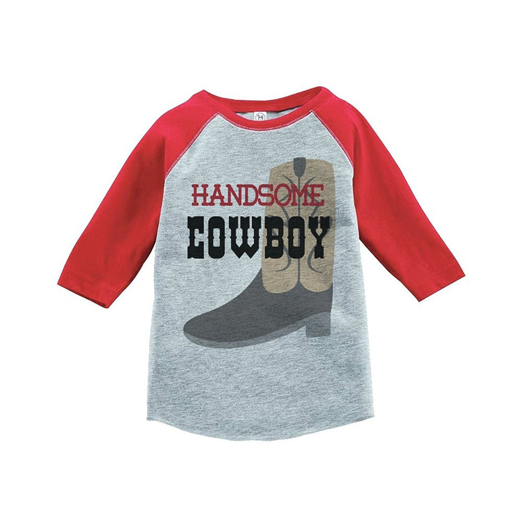 7 ate 9 Apparel Boy's Novelty Cowboy Vintage Baseball Tee