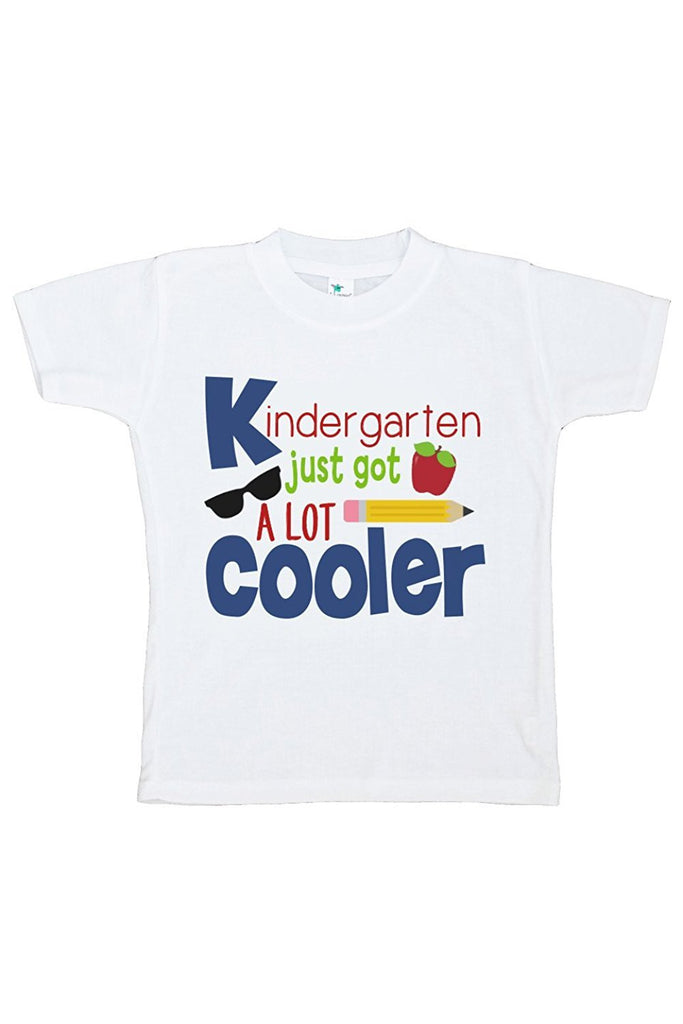 7 ate 9 Apparel Kids Kindergarten Just Got Cooler School T-shirt