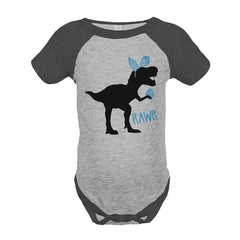 Easter Dinosaur - Baby Boy's Grey Onepiece