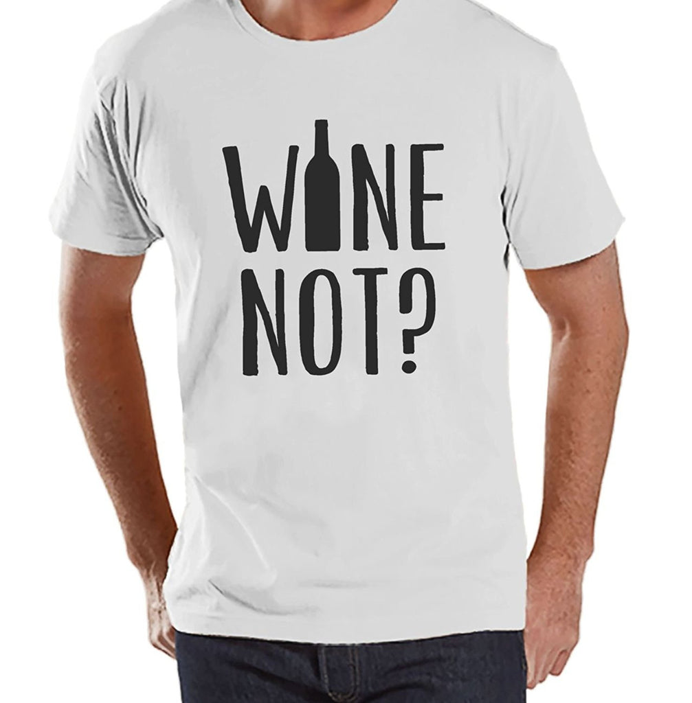 7 ate 9 Apparel Men's Wine Not Funny T-shirt
