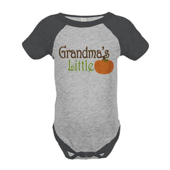 7 ate 9 Apparel Baby's Grandma's Little Pumpkin Fall Onepiece