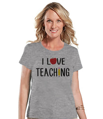 7 ate 9 Apparel Womens I Love Teaching Teacher T-shirt