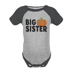 7 ate 9 Apparel Baby's Big Sister Halloween Onepiece