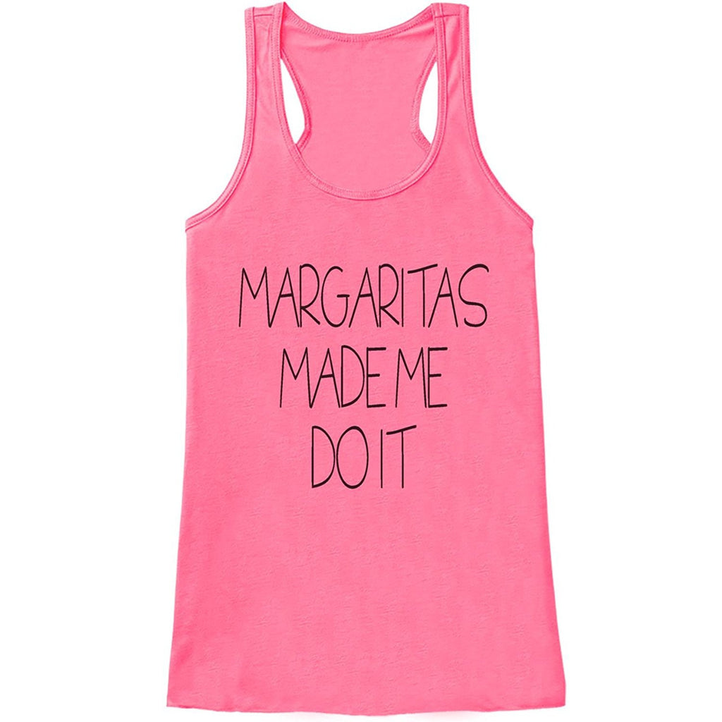 7 ate 9 Apparel Womens Margaritas Made Me Do It Funny Tank Top