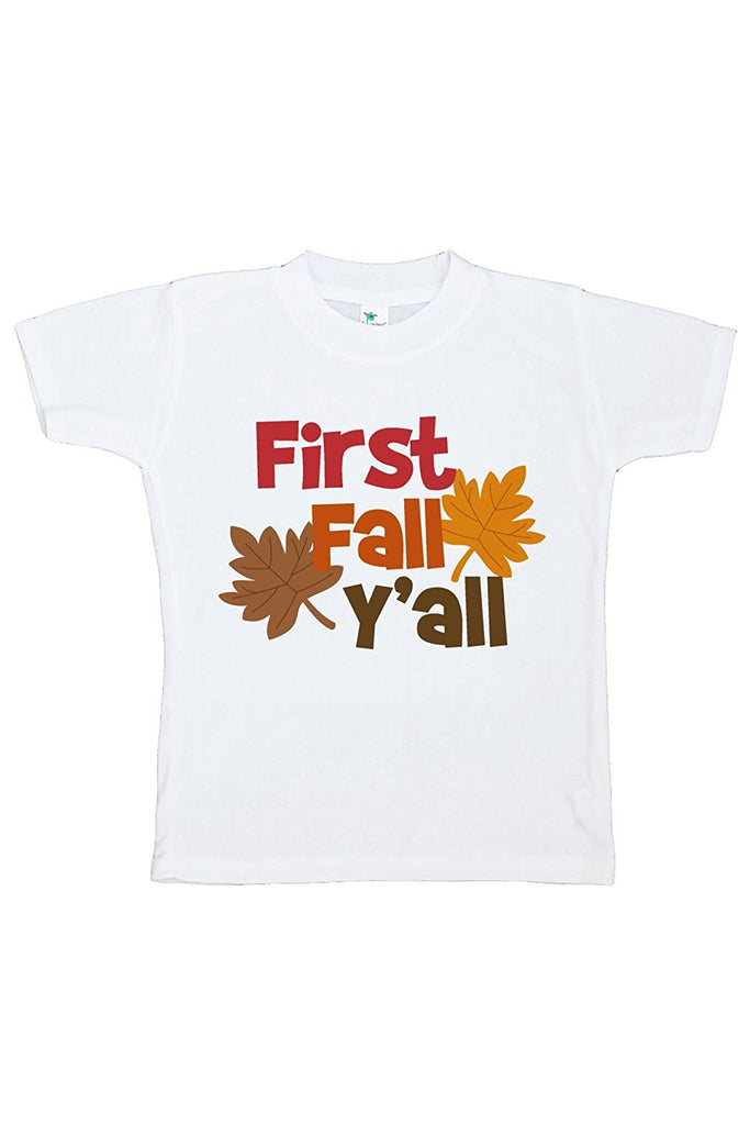 7 ate 9 Apparel Baby's First Fall Y'all Shirt