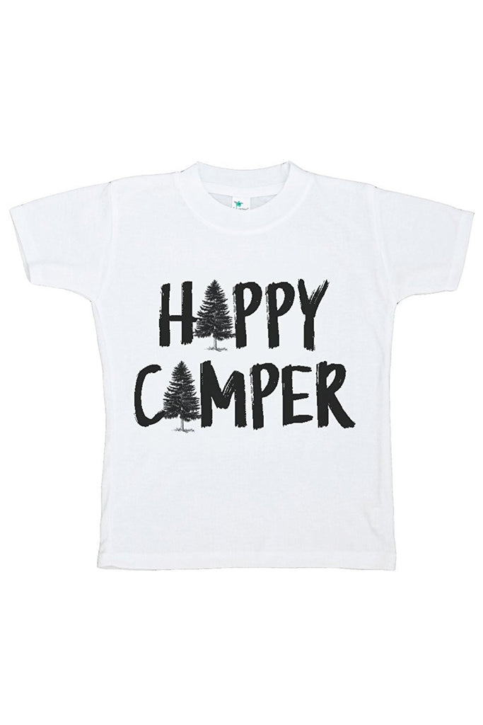 7 ate 9 Apparel Kids Happy Camper Outdoors T-shirt