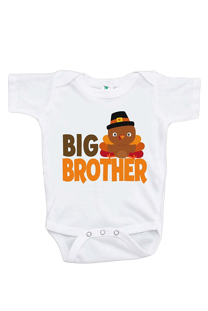 7 Ate 9 Apparel Baby Boy's Big Brother Thanksgiving Onepiece