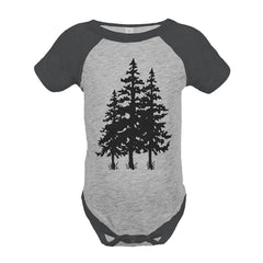 7 ate 9 Apparel Unisex Trees Outdoors Raglan Onepiece