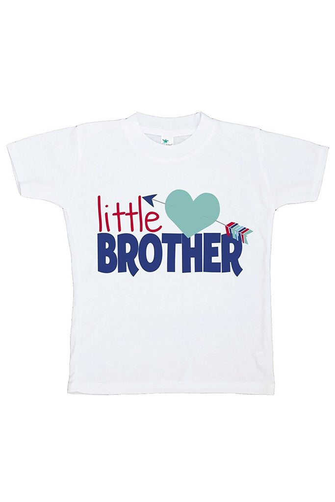 7 ate 9 Apparel Boy's Little Brother Happy Valentine's Day T-shirt
