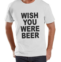 7 ate 9 Apparel Men's Wish You Were Beer Funny T-shirt