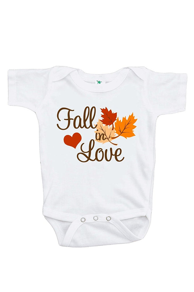 7 Ate 9 Apparel Baby Boy's Fall in Love Onepiece