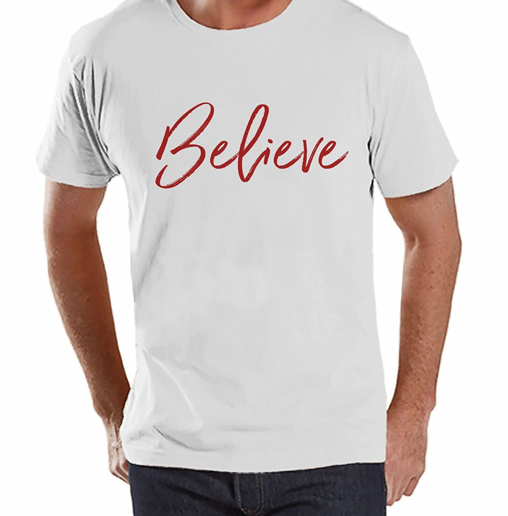 7 at 9 Apparel Men's Believe Christmas T-shirt