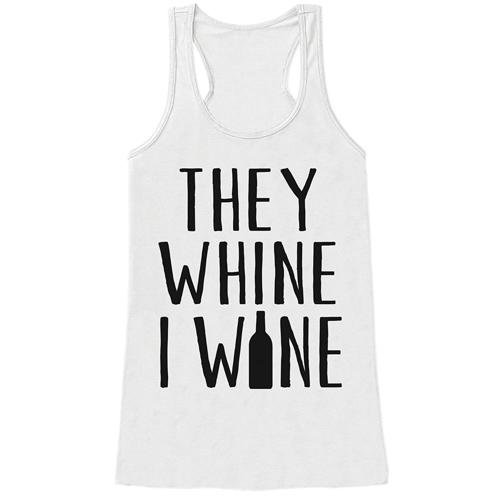7 ate 9 Apparel Womens They Whine I Wine Mother's Day Tank Top